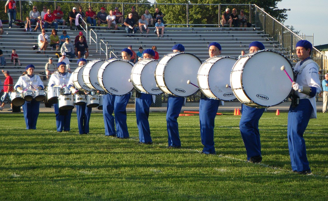 Bass Drum Line Of Seven Drums